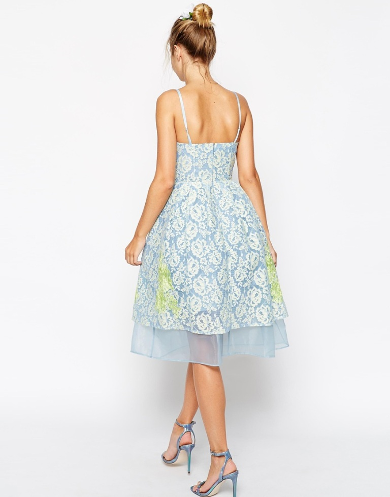 ASOS SALON Premium Placed Lace and Applique Prom Dress With Organza Hem 2