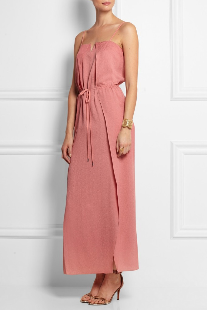 halston heritage Hammered-silk maxi dress