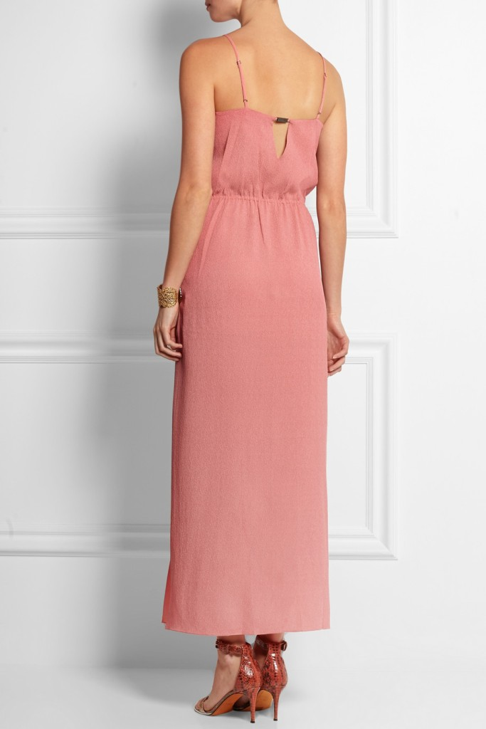 Hammered-silk maxi dress halston heritage