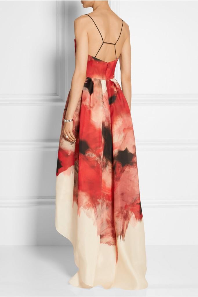 Printed silk-gazar gown lela rose 2