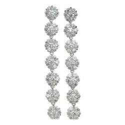 cz-flower-cluster-drop-silver-earrings-1