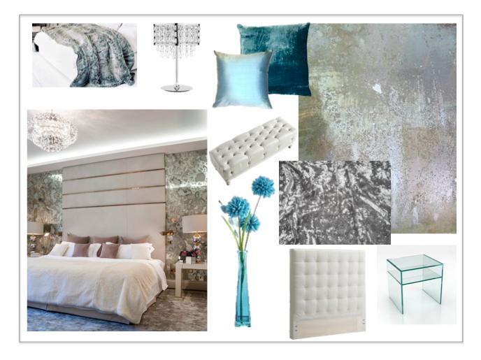 Blue Mirror Bedroom