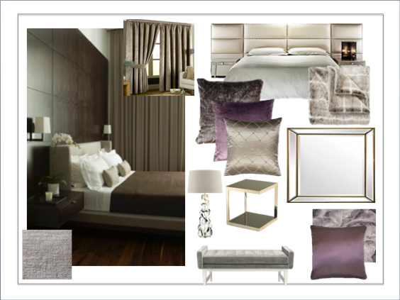 Purple and Taupe Room
